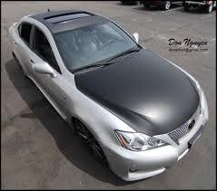 white lexus black roof lexus isf matte black and carbon fiber hood vinyl wrap u2014 wannabe
