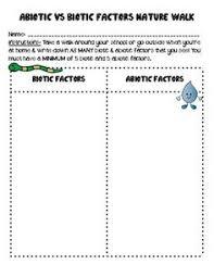 biotic and abiotic factors worksheet google search 7th grade