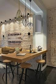deco mur cuisine moderne table a manger en bois pas cher pour decoration cuisine moderne