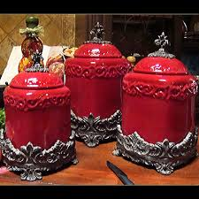tuscan style kitchen canister sets country kitchen accessories fleur de lis porcelin