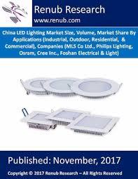 china led lighting market volume applications companies