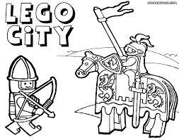Lego Knights Coloring Pages Funycoloring Lego Coloring Pages