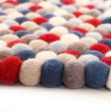Wool Ball Rug Felt Online Rugs For Kids And Children Kids Rugs Children Rugs