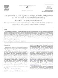 the evaluation of food hygiene knowledge attitudes and practices