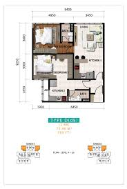 bayu sentul floor plan sks pavillion apartment 2 bed room partial furnished for rent