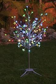 exhart silver led tree with 90 color changing leds