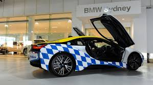 modified bmw i8 bmw i8 police car would be suitable for demolition man sequel