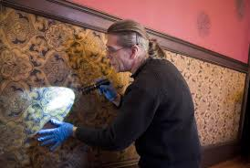 preservation work on historic campbell house moves inside the