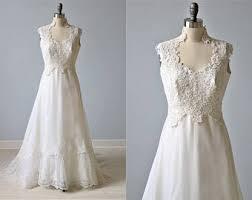 vintage 70s wedding dress etsy