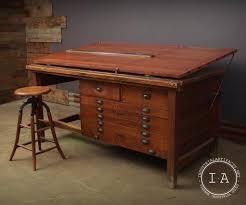 Art Drafting Table Vintage 6 U0027 Adjustable Oak Drafting Table Flat File Art Craft