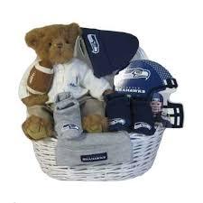 Seattle Gift Baskets Seattle Seahawks Baby Gift Basket Touchdown Amazon Baby