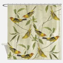 Bird Shower Curtains Yellow Bird Shower Curtains Cafepress