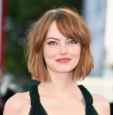 chinbhairs and biob hair emma stone short natural red hair bob hair i like pinterest