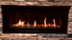 escea gas fires river rock coals youtube