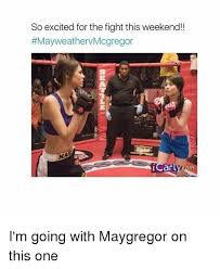 Excited Girl Meme - so excited for the fight this weekend mayweathervmcgregor 18