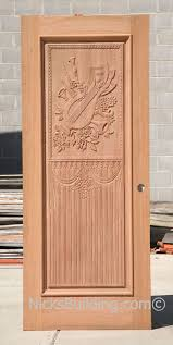 Carved Exterior Doors Carved Door With Room Theme
