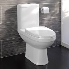 close coupled bathroom toilet modern white square ceramic soft