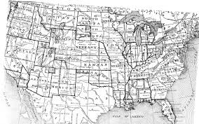 Black And White United States Map by United States Digital Map Library About