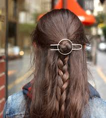 hair barrette hammered circle hair barrette fork women s accessories