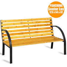 panchine prezzi panchina panca da giardino 3 posti in legno a doghe e acciaio per