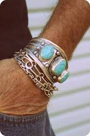 bracelet cuff man silver images 1980s tibetan tribal silver and turquoise mens cuff via etsy jpg
