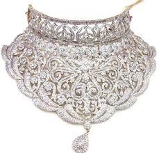 diamond set american diamond necklace set in sheikh memon st zaveri bazar