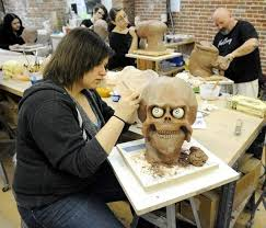 colleges for special effects makeup mask and special effects makeup class at clay college in