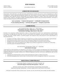 free manager resume exle administration manager resume free sle career profile