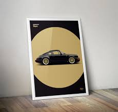 porsche poster vintage porsche 911 964 2 poster vertical car bone pl
