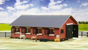 amazon com breyer stablemates deluxe horse stable set toys u0026 games