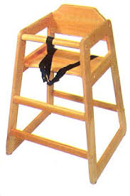 wooden high chair ebay restaurant commercial wood chairs style