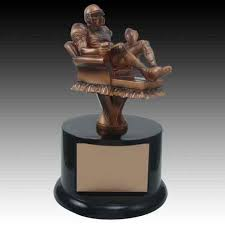 Armchair Quarterback Game Football Trophies