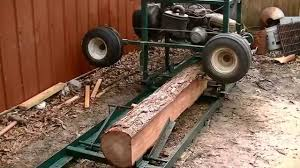 home made sawmill from a old golf cart works great youtube