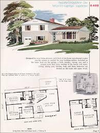 5 Level Split Floor Plans 1955 National Plan Service No E 605 Split Level Angled Kitchen