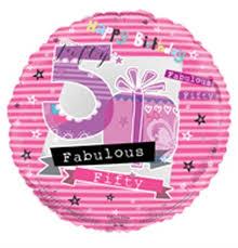 50th birthday balloon delivery 50th fabulous birthday balloon in a box gift helium filled 50th