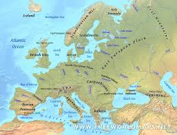 Free World Map Europes Physical Features New Europe Peninsulas Map