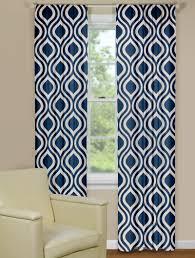 retro curtain panels in indigo