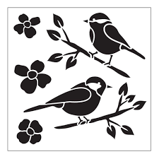 nature flowers wall stencils wall decor the home depot birds small painting stencil