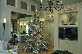 tree shop living room traditional with ornaments white