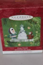 hallmark 1980 frosty friends a cool yule ornament 1st in
