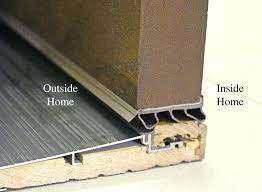 Exterior Door Threshold Installation Front Doors Exterior Door Threshold Replacement Door Sweep