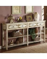 coast to coast console table deal alert 35 off coast to coast weathered white 4 drawer console