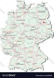 Bamberg Germany Map by Germany Autobahn Map Royalty Free Vector Image