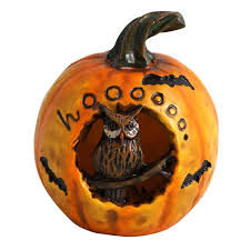 Lighted Ceramic Halloween Decorations by Lighted Color Changing Pumpkin Halloween Decoration Owl One