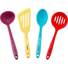 silicone cuisine conjunto utensilios de silicone coloridos 4 peças la cuisine
