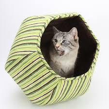 modern cat furniture cat ball green stripes the cat ball