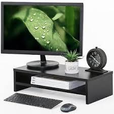 Upright Desk Organizer Desktop Monitor Riser Tv Stand Desk Organizer Storage Shelf For