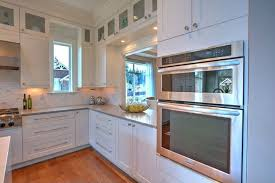 kitchen with flat panel cabinets u0026 crown molding in renton wa