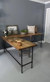 Metal L Shaped Desk Industrial Metal Desk By Aciorindustrial Black Table Legs Office