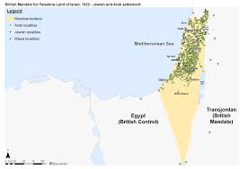 Map Of Israel And Palestine שאול אריאלי Political Arrangements